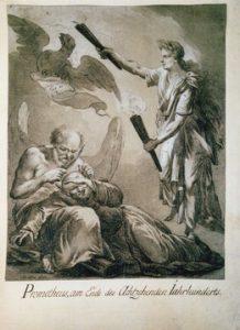 Friedrich Wilhelm Schäfer, Prometheus, am Ende des Achtzehnten Jahrhunderts, Federzeichnung, 39,8 x 31,1 cm, GK II (6) 69, Copyright: SPSG
